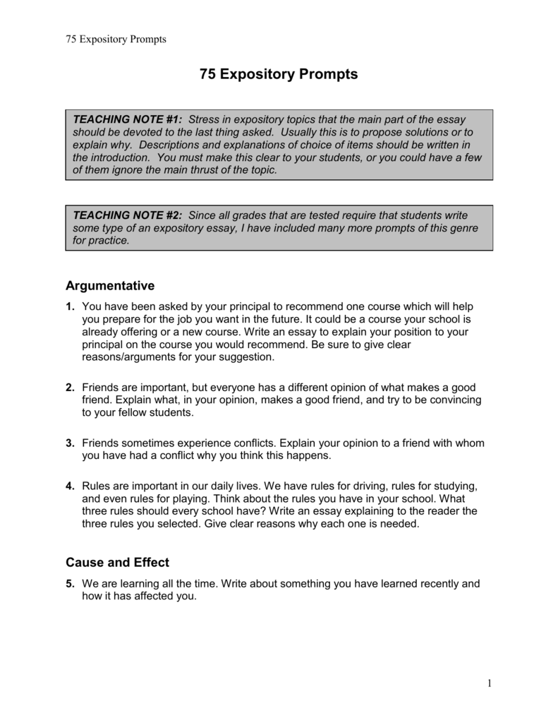 Expository Essay Topic Suggestions Writing Recommendations And  Expository Essay Topic Suggestions Writing Recommendations And Test  Documents