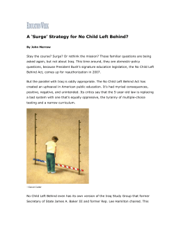 `Surge` Strategy for No Child Left Behind?