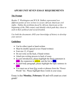 Apush unit 7 essay | Homework Sample - August 2019 - 2044 words