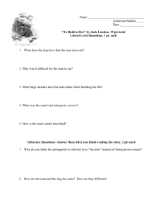 """To Build a Fire"" Reading Questions"