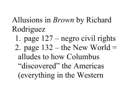 Allusions in Brown by Richard Rodriguez