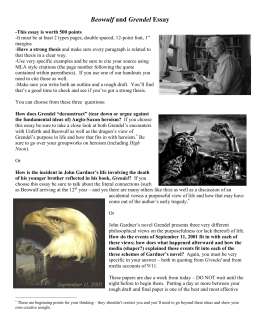 similarities between grendel and cain beowulf and grendel essay