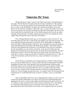 supersize me assignment supersize me essay tms 8s