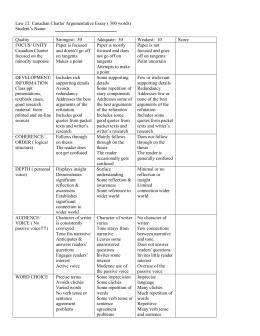 rubric for law 12 argumentative essay
