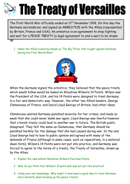 What did the Treaty of Versailles mean for Germany and for Europe?