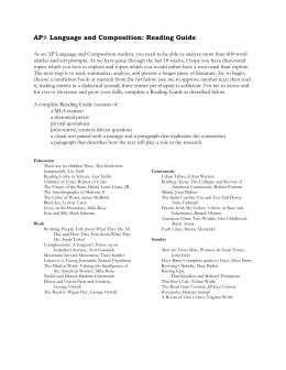 ap english literature and composition study guide