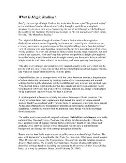 Fahrenheit 451 Essay Thesis What Is Magic Realismdoc English 101 Essay also High School Graduation Essay Mr Levy Ap English Chronicle Of A Death Foretold Essay  Pts The Importance Of English Essay
