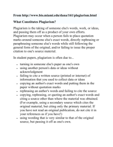 "Read ""What constitutes plagiarism"""