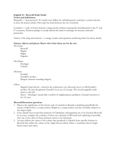 English 11 – Beowulf Study Guide