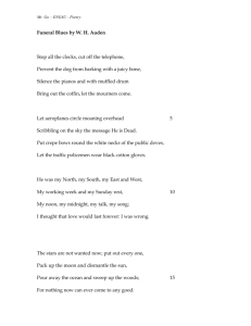 Exer1 - Auden - Funeral Blues.doc 24KB Sep 20 2010 06:07:53 PM