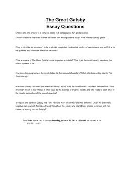 essay about the great gatsby