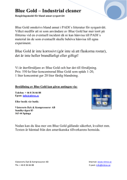 Blue Gold – Industrial cleaner Rengöringsmedel