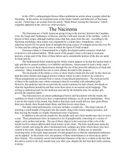 the nacirema