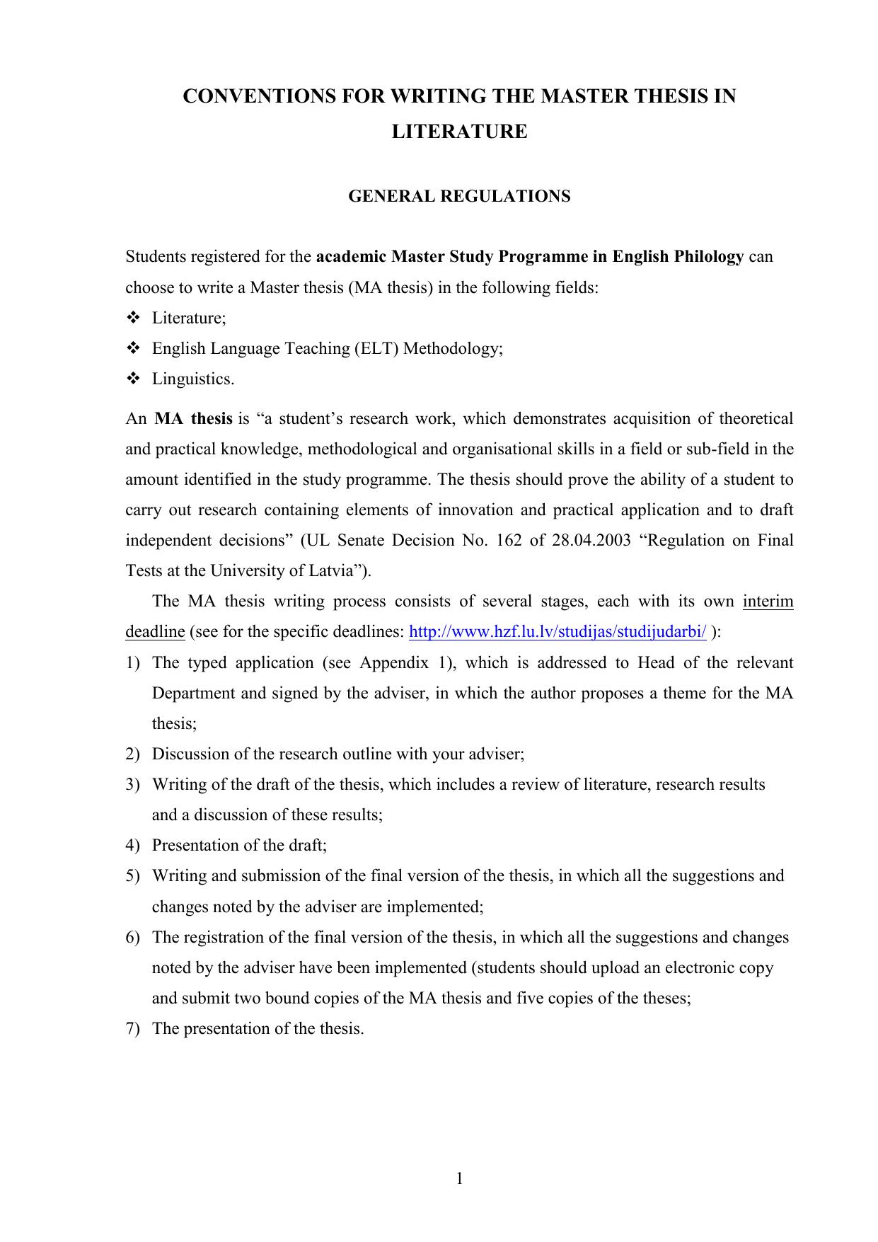 master thesis english language