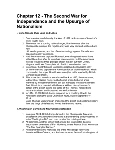 Chapter 12 - The Second War for Independence and the Upsurge of