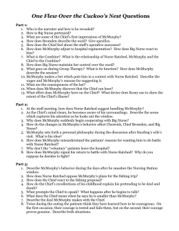 One flew over the cuckoos nest essay questions