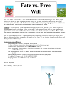 Fate vs free will essay.doc