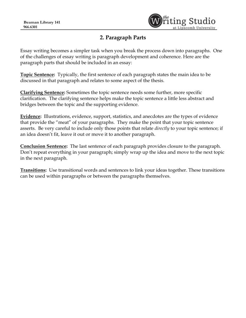 clarification essay topics