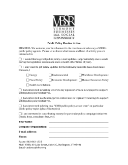 Public Policy Action Member Form
