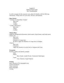 Hamlet final test study guide