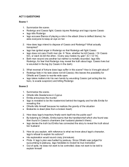 othello act 1 scene 1 3 questions essay Act i, scene i of shakespeare's ''othello'' thrusts the audience right into the action   othello act 1, scene 1 summary & quotes  a short quiz follows.