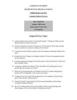 ESSAY TOPICS - Lakehead University