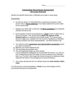 Verbal visual essay assignment pdf