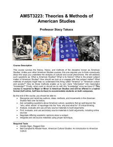 Theories and Methods of American Studies
