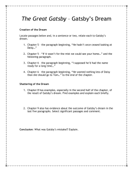 argumentative essay the great gatsby and the american dream the great gatsby gatsby`s dream