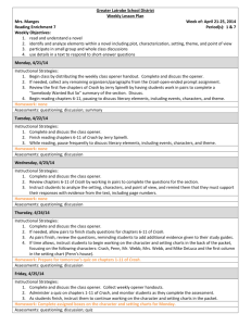 Greater Latrobe School District Weekly Lesson Plan Mrs. Manges