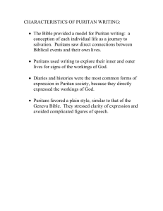 Characteristics of Puritan Writing-