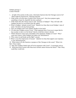 sophocles oedipus rex part one study questions  oedipus passage 2