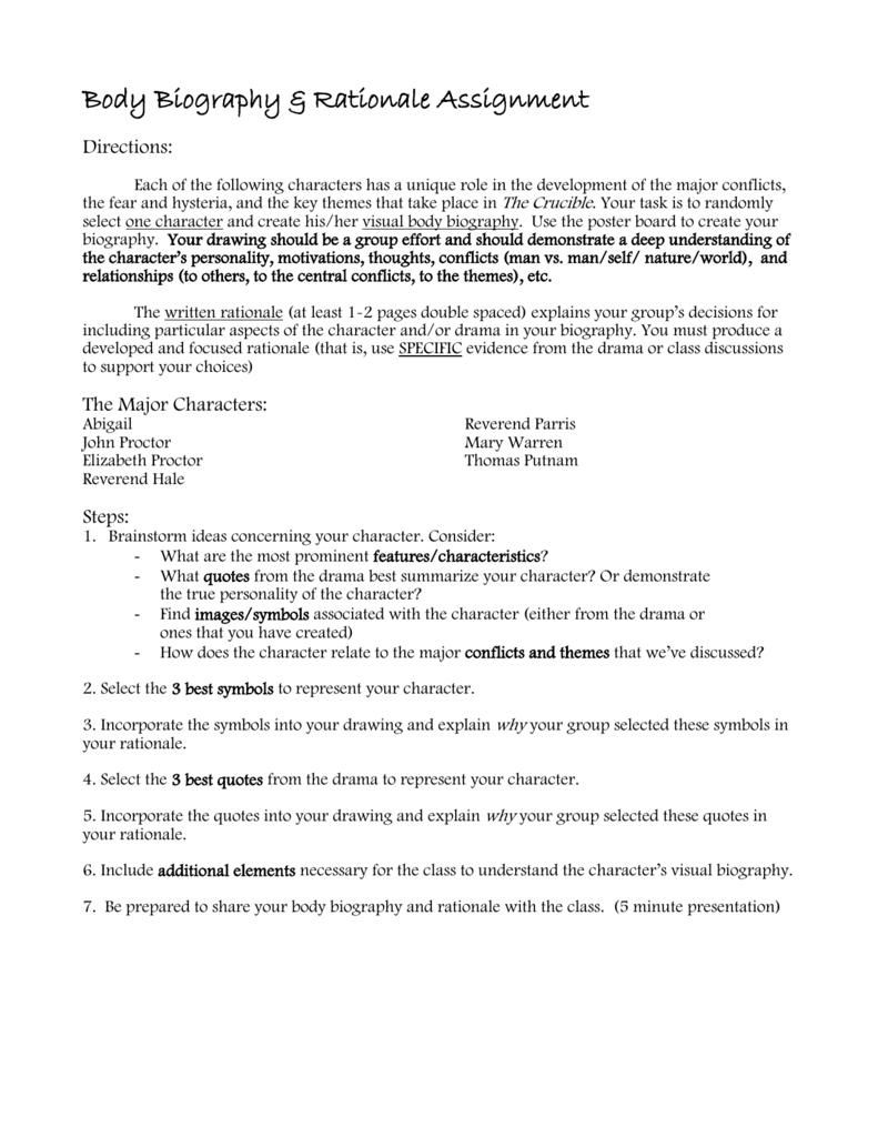Character analysis assignment sheet buycottarizona Choice Image