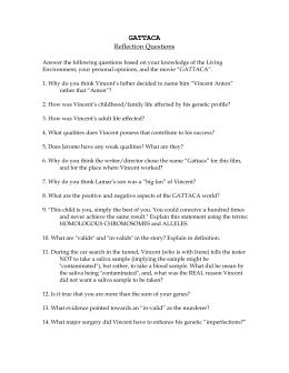 High School Essay Examples Essay Questions Gattaca Thesis Generator For Essay also Essay On Business Ethics Essay Questions Gattaca  The Society Of Gattaca Essay Essay On Pollution In English