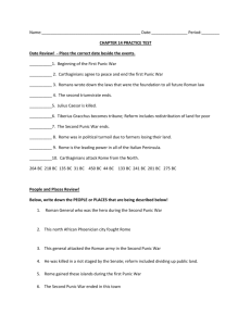 Roman Republic Study Guide