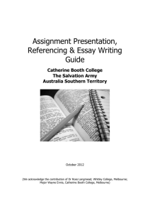 writing assignments – where do i begin??