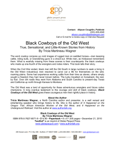 Black Cowboys of the Old West Press Release