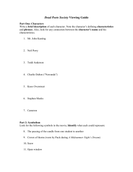 dead poets society analysis questions and answer key describe rh studylib net dead poets society discussion questions answers dead poets society discussion questions answers