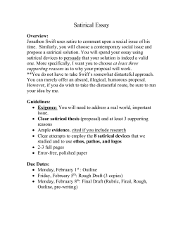 english iv satire essay a modest proposal satirical essay