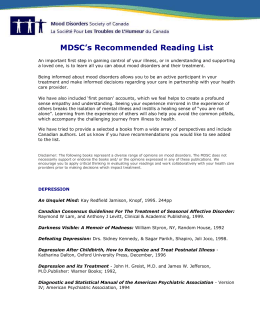 MDSC Recommended reading list.doc