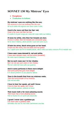 shakespeare sonnet 130 theme