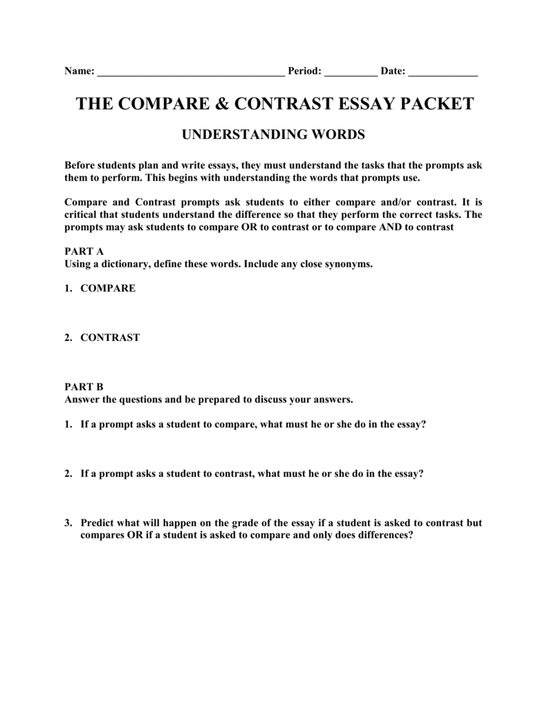 how to close a compare and contrast essay