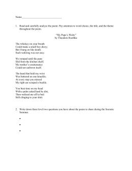 miss rosie poem