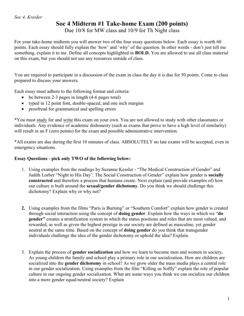 Define 12 point essay