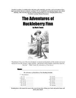the adventures of huckleberry finn thesis statements Teaching mark twain's adventures of huckleberry finn by shelley fisher fishkin dr shelley fisher fishkin, professor of american studies and english at the university of texas, is the author of lighting out for the territory: reflections on mark twain and american culture (oxford university press, 1997) and was huck.
