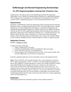 Deffenbaugh/Burwell Engineering Scholarships