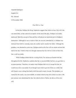 oedipus essay prompts amanda rodriguez