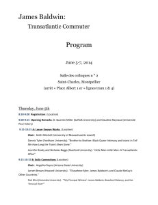 James Baldwin: Transatlantic Commuter Program June 5
