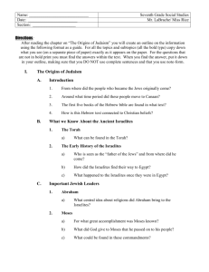 Chapter 11 Judaism Outline.doc