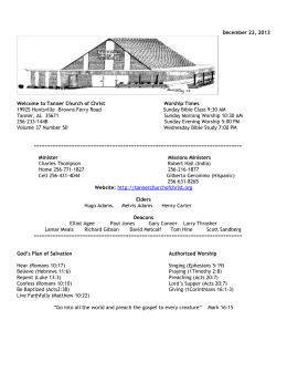 13-12-22-Bulletin.doc - Tanner Church of Christ